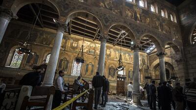 En fotos: Un ataque a la catedral cristiana copta de El Cairo deja al menos 25 muertos