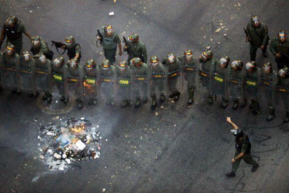 Los manifestantes habían advertido horas antes de la marcha que podrían...