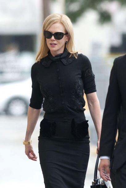 Nicole Kidman fue una de las estrellas que acudió a dar el &uacut...