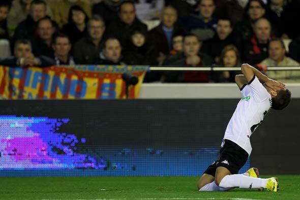 El Valencia, en casa, despedició varias oportunidades ante un Espanyol b...