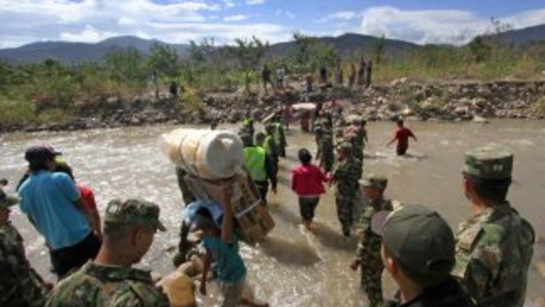 La crisis que se vive en la frontera entre Colombia y Venezuela.