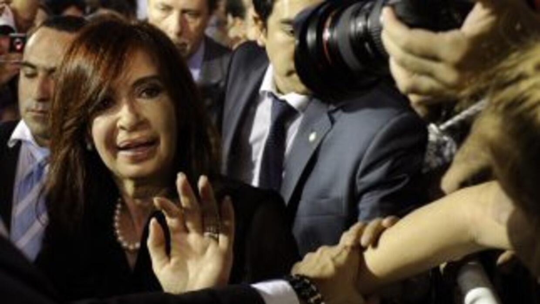 La presidenta de Argentina, Cristina Fernández realiza una visita de Est...
