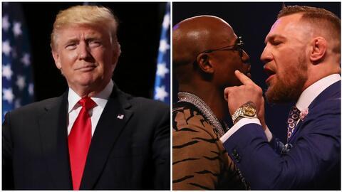 Trump y sus tweets, entre las apuestas curiosas para el combate Mayweath...