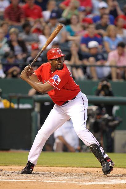 El dominicano Vladimir Guerrero, en su primera temporada con los Rangers...