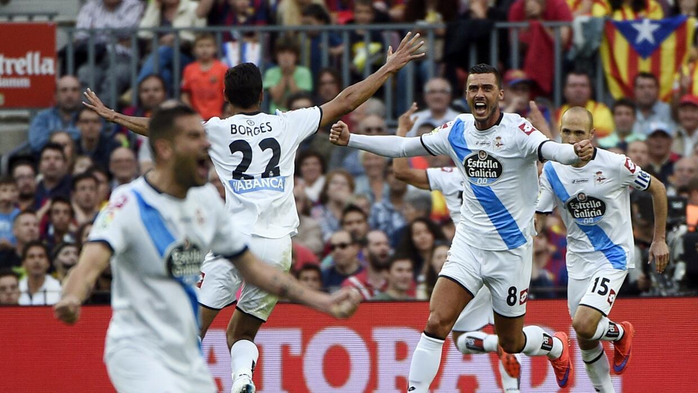 Deportivo La Coruña hizo fiesta en el Camp Npu.