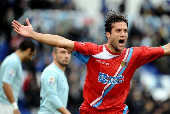 Pero no contaban con que el Catania se pondría en ventaja con gol de Sil...