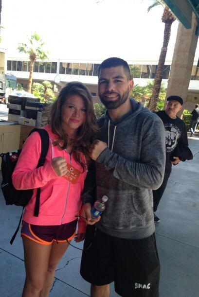 Y tiene buenos amigos entre los boxeadores mexicano, como Alfredo Angulo...