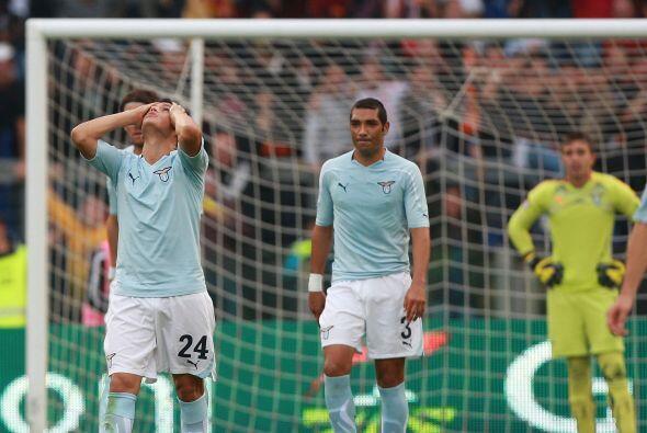 Los jugadores de la Lazio no lo podían creer.