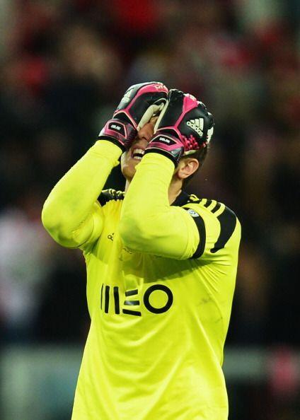 Jan Oblak, guardameta del Benfica, no pudo atajar ningún disparo en la t...