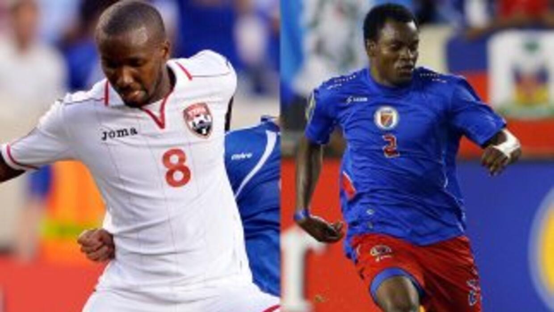 Trinidad vs. Haití en acciones del Grupo B.