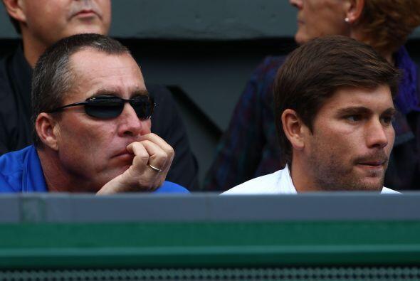 El entrenador de Murray, Ivan Lendl, con la esperanza de que su pupilo l...