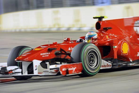 El Ferrari de Alonso le respondió en todo momento a pesar de la presión...