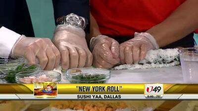 Rollos de sushi California y Nueva York