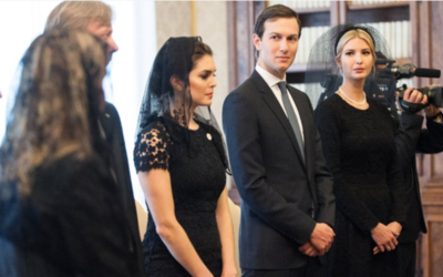 Hope Hicks with the Trump family during a May 24 audience at the Vatican.