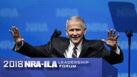 Oliver North participó en la reciente convención de la NRA...