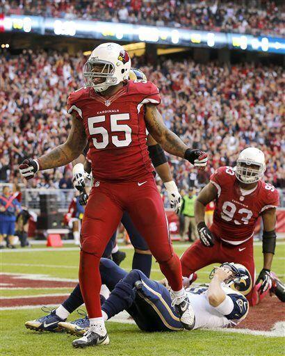 John Abraham, apoyador exterior de los Arizona Cardinals (AP-NFL)