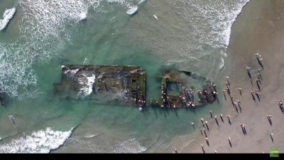 El barco naufragó en el sur de California en 1936