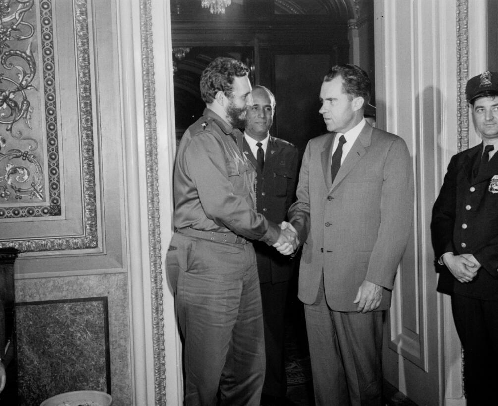 Encuentro de Fidel Castro con el entonces vicepresidente de EEUU Richard...