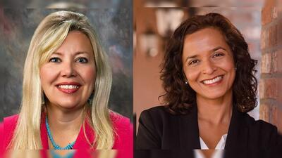 La candidata republicana Debbie Lesko y la demócrata, Hiral Tipierni, li...