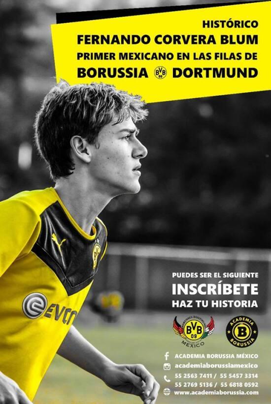 Juvenil mexicano se unirá a las filas del Borussia Dortmund cervera.jpg