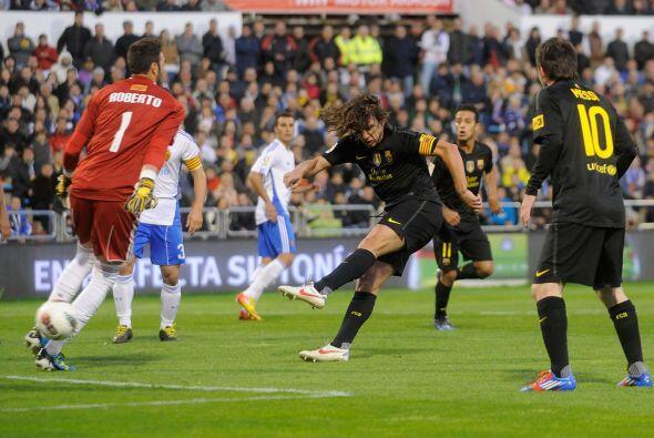 El Barça se fue con todo en busca del empate y Puyol puso su sello.