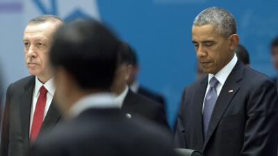Barack Obama en la cumbre del G20.