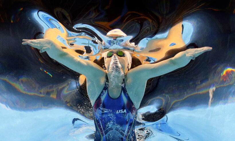 Los atletas nos regalan su arte en las competencias acuáticas, no...