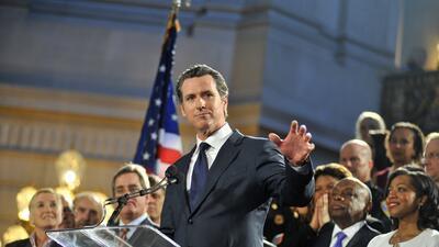 Gavin Newsom, candidato demócrata a la gobernación de California.
