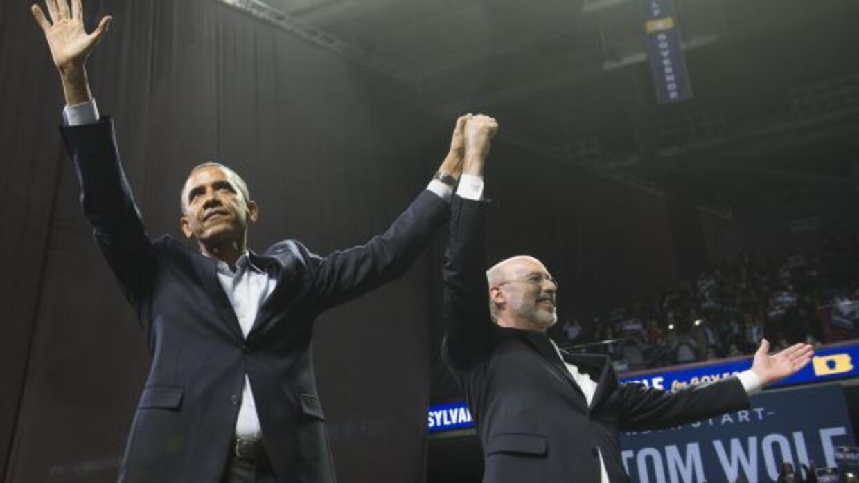 El presidente Barack Obama estuvo con Tom Wolf durante su campaña.