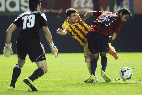 Messi entró en la segunda parte y tampoco pudo ayudar.