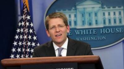 Jay Carney, vocero de la Casa Blanca.