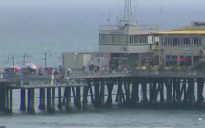 'Los Ángeles en un Minuto': playa del Muelle de Santa Mónica es una de l...