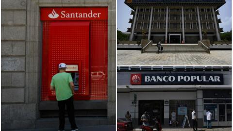 Los bancos Santander, Popular y el Banco Gubernamental de Fomento desemp...
