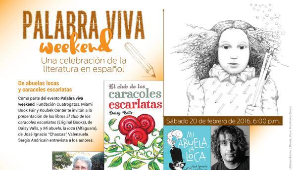 """Fin de semana de lectura con """"Palabra viva weekend"""" - Flyer"""