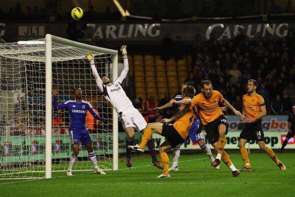 Wolverhampton aún tuvo una ocasión para igualar, pero el portero Peter C...