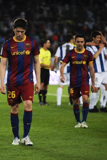 La Real Sociedad festejó con locura la victoria y los del Barcelona se f...