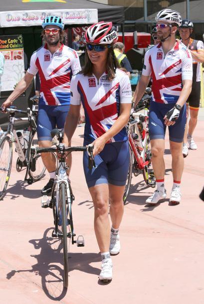 Pippa participa en el viaje Race Across America, junto a miles de person...