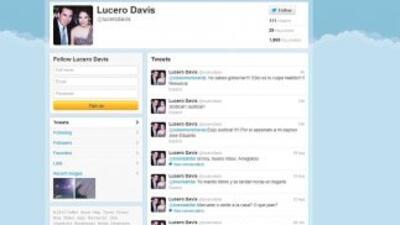 Twitter de Lucero Davis, viuda del joven Moreina. En sus comentarios mue...