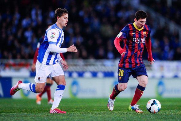 El Barcelona jugó contra la Real Sociedad en Anoeta y se llevó una desag...