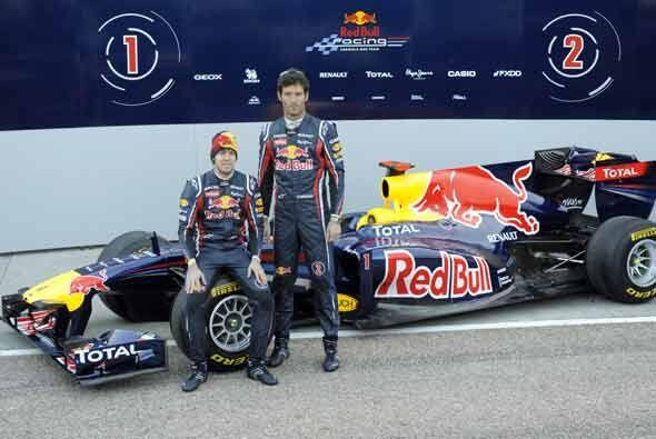 Esta es la primera vez que los Red Bull llevarán los números 1 y 2.