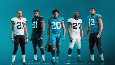 De impacto: así lucen los nuevos uniformes de los Jacksonville Jaguars