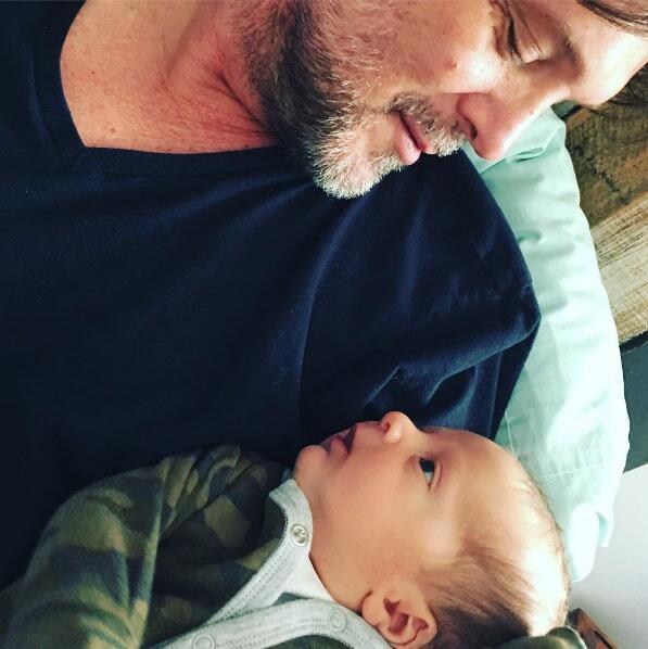 René Strickler y su hijo Ian