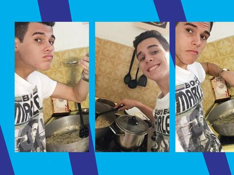 Zabdiel is one cute cook