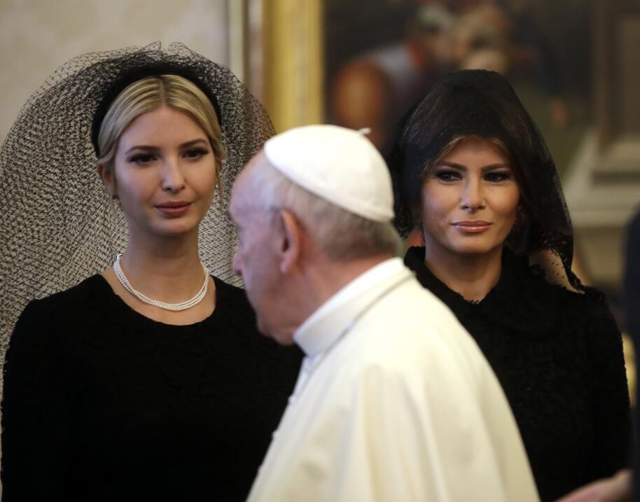 Ivanka, Melania y el Papa