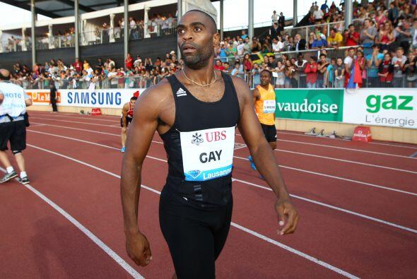 El excampeón munial de los 100 metros, Tyson Gay.