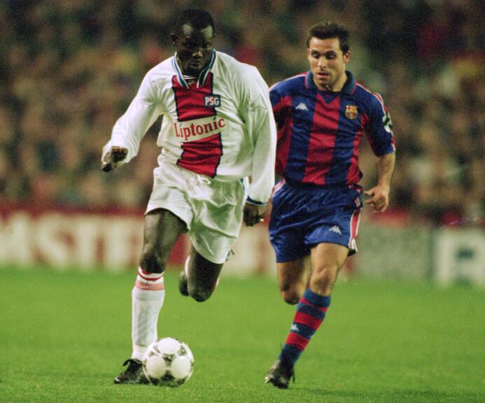 Temporada 1995/1996 - George Weah (Paris Saint-Germain) con 7 goles.