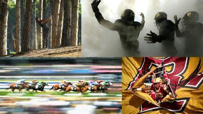 Postales de la competencia deportiva en el mundo