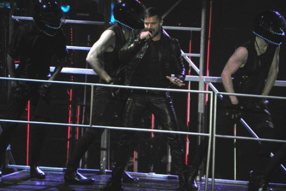 Ricky Martin se presentó en Hidalgo, Texas la noche de lunes con...
