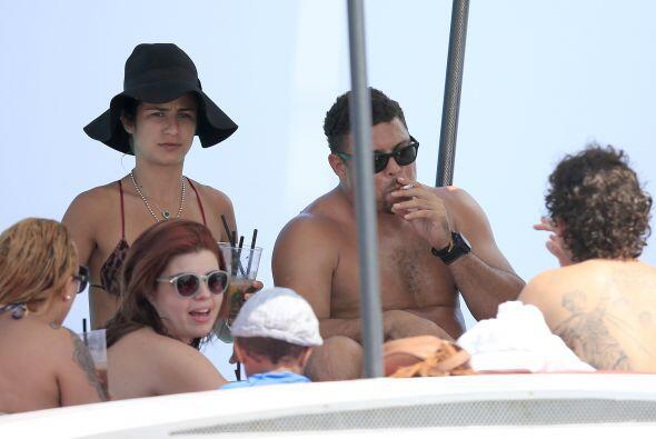 El brasileño llevó a toda su familia al popular destino turístico.