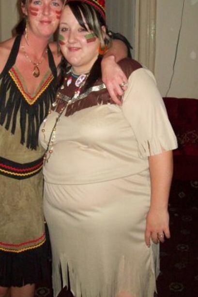 Después de verse en una fotografía con su disfraz de Pocah...